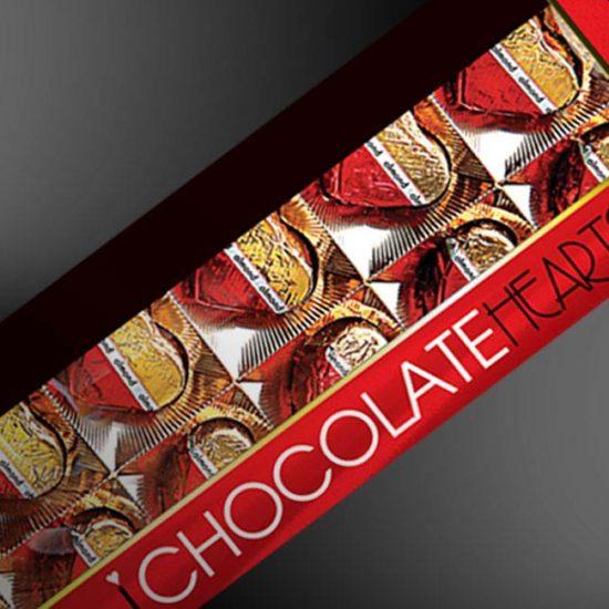 design pudełka czekoladek z okienkiem