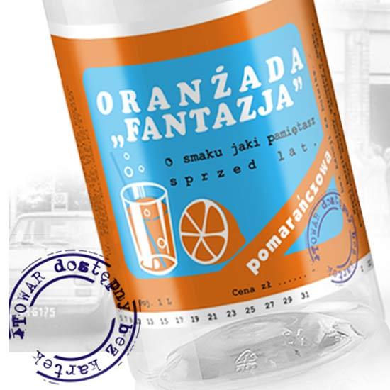 projekt etykiety na oranżadę