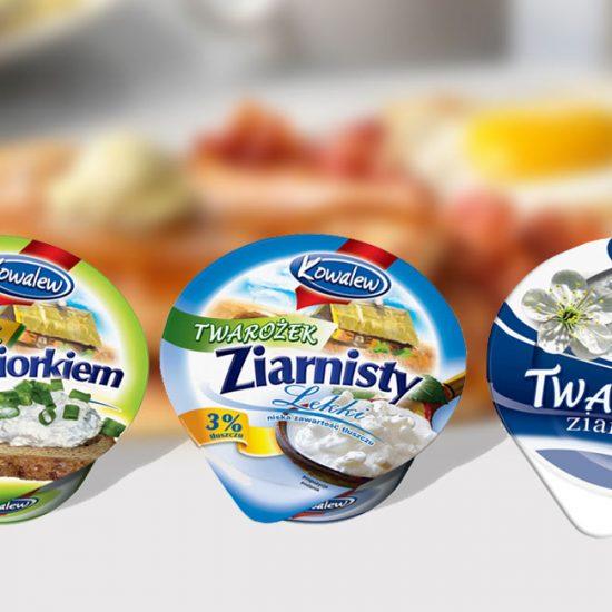 rebranding opakowań mleczarskich dairy