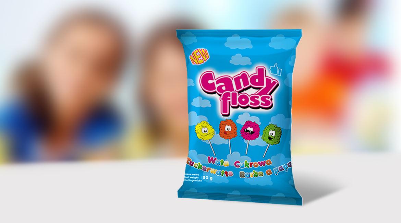 candy floss - projekt opakowania