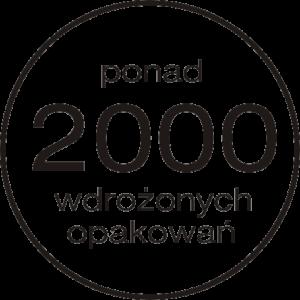 ponad 2000 wdrożonych opakowań